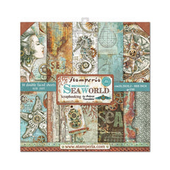 Stamperia Double-Sided Paper Pad 8in x 8in 10 pack - Sea World, 10 Designs/1 Each
