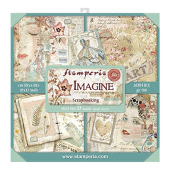 Stamperia Double-Sided Paper Pad 12in x 12in 22 pack - Imagine, 22 Designs/1 Each