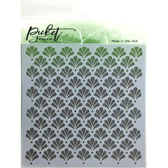 Picket Fence Studios Stencil 6 inch X6 inch - Floral Damask