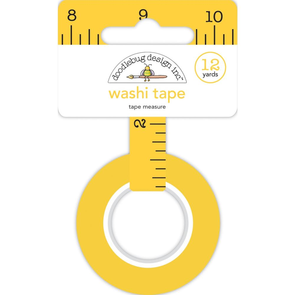 Doodlebug Washi Tape 15mmX12yd - Tape Measure, School Days