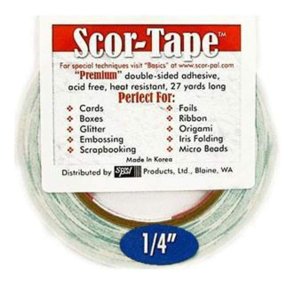Scor-Tape Double-Sided Tape 1/4In. X 27 Yds