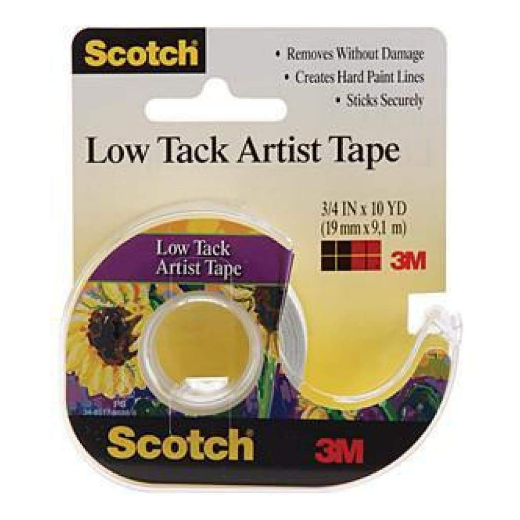 Scotch Low Tack Artist Tape .75X10yd .75X10yd