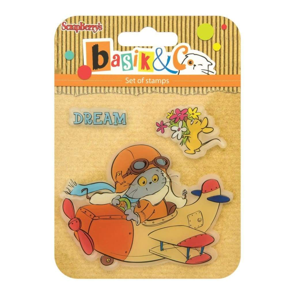 ScrapBerrys Basiks New Adventure Clear Stamps Lets Fly