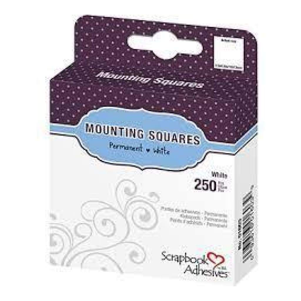Scrapbook Adhesives Mounting Squares 250 Pack Permanentwhite.5 Inch X.5 Inch