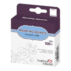 Scrapbook Adhesives Mounting Squares 500 pack Permanent, White, .5 inch X.5 inch