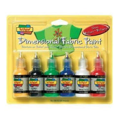 Scribbles 3D Fabric Paints 1Oz 6 Pack Shiny