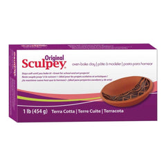 Sculpey Original Polymer Clay 1lb Terra Cotta