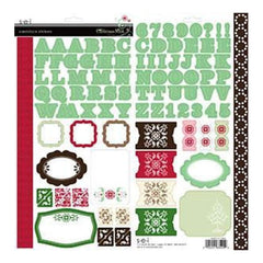 Sei - Christmas Mint - Cardstock Stickers With Varnish Finish