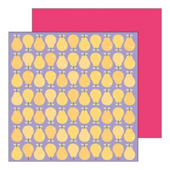 Sei - Fruit Stand Pear Party 12X12 Patterned Paper  (Pack Of 10)