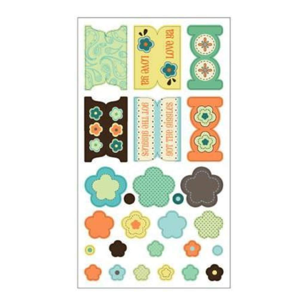 Sei - Paisley & Petals - Fab Fabric Stickers (Sold Individually)