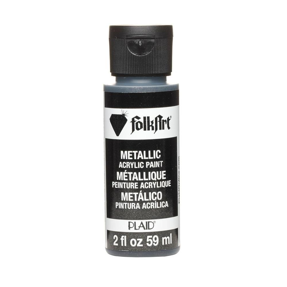 FolkArt Metallic Acrylic Paint 2oz - Sequin Black