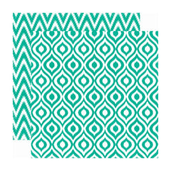 Echo Park - 34th Street Collection - 12 x 12 Double Sided Paper - Sprig Ikat