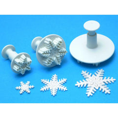 Knightsbridge Global - Plunger Cutters 3 pack - Snowflake