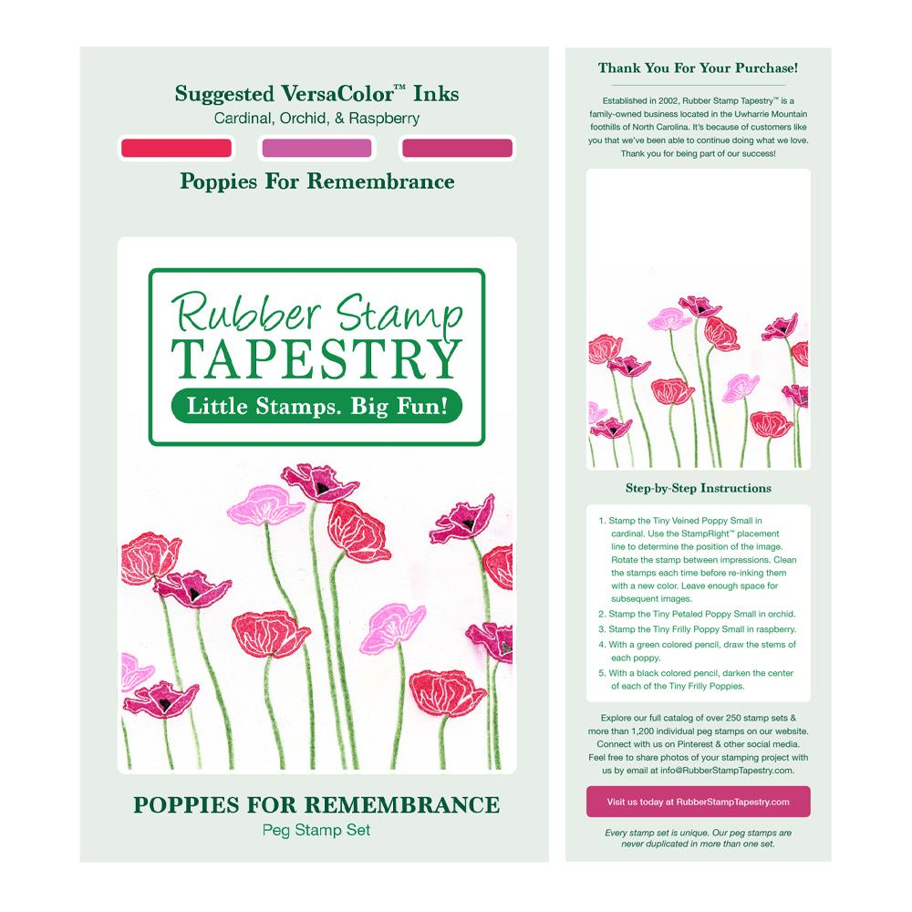 Peg Stamps - Poppies for Remembrance