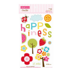 Bella Blvd Sunshine and Happiness Collection - Ciao Chip - Self Adhesive Chipboard - Icons