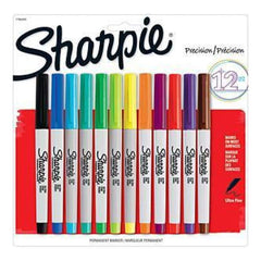 Sharpie Ultra Fine Permanent Markers  12/Pkg Assorted Colours