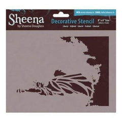 Sheena Douglass Decorative Stencil 8In.X6in. Liberty