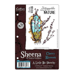 Sheenas A Little Bit Sketchy EZMount Stamps 5.5 inch X8.25 inch Cherry Blossom