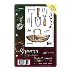 Sheenas Perfect Partners Home Life EZMount Stamps 5.5 inch X8.5 inch Dig For Victory