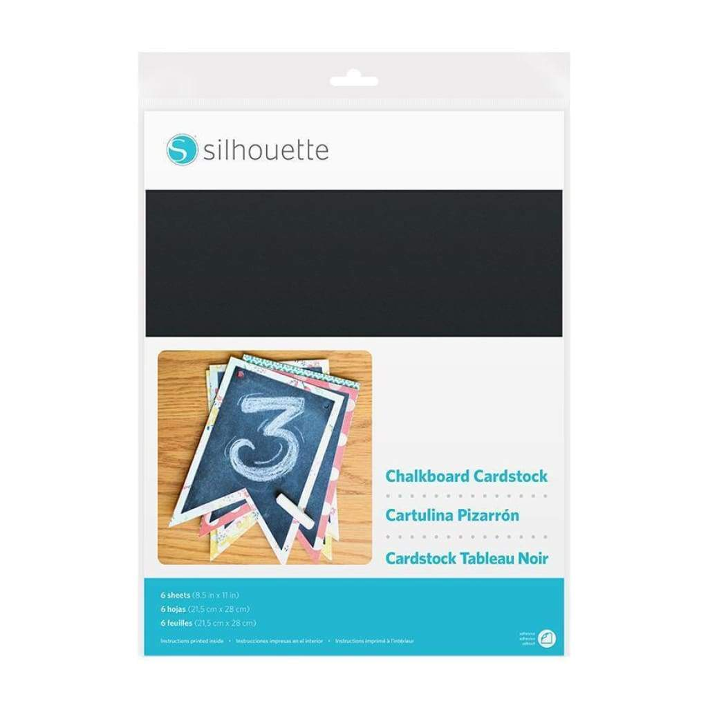 Silhouette - Adhesive-backed Chalkboard Cardstock