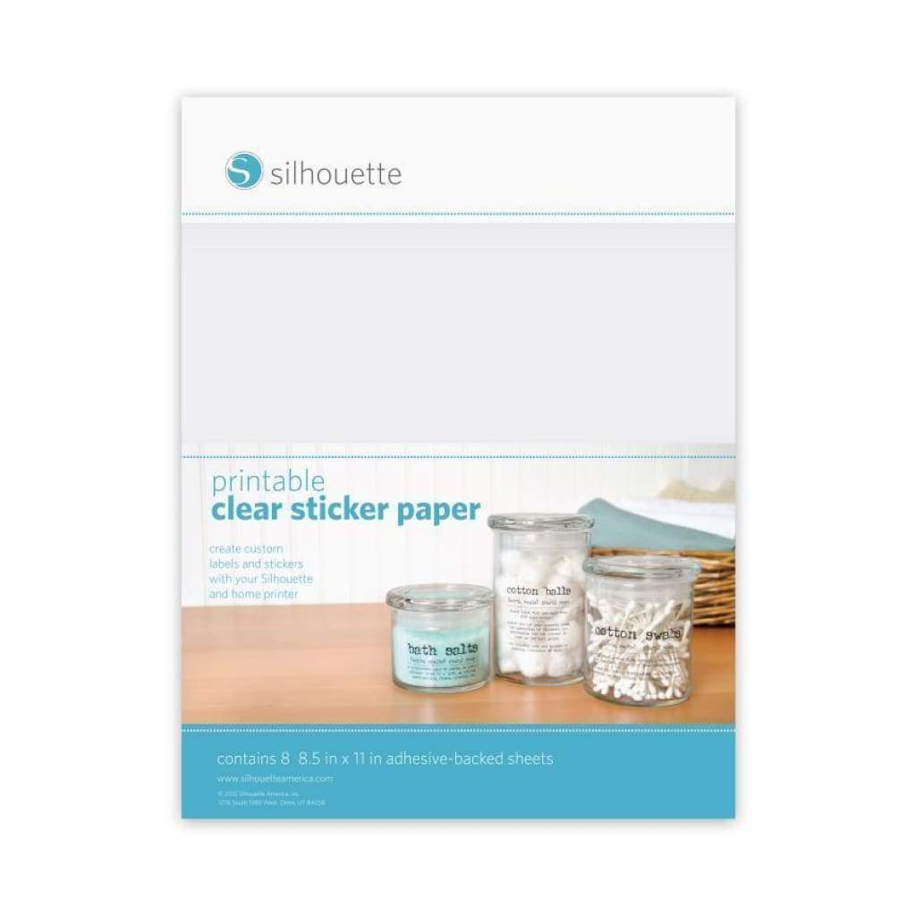 photo relating to Printable Clear Labels identified as Silhouette Cameo - Printable Obvious Sticker Paper