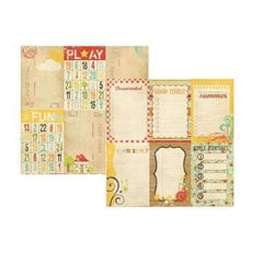 Simple Stories By Memory Works - 100 Days Of Summer - Vertical Journaling Elements 12X12 Inch Double-Sided  Paper  (Pack Of 10)