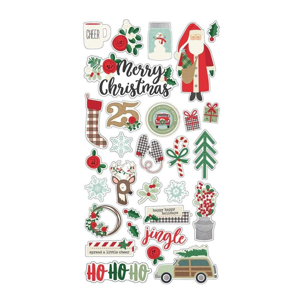 Simple Stories - SimpleMerry & Bright Chipboard Stickers 6 inch X12 inch