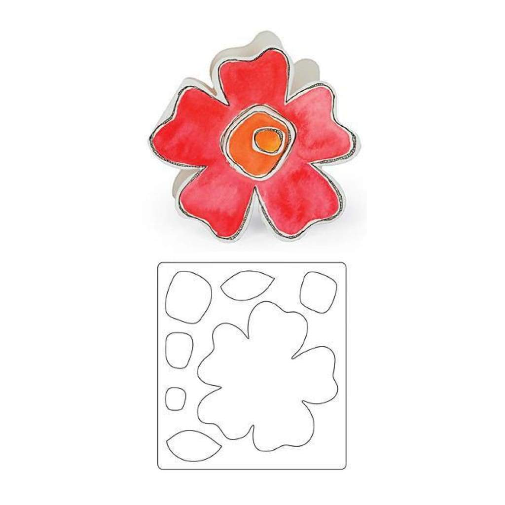 Sizzix Bigz Die 5.5In. X6in.  Flower #3