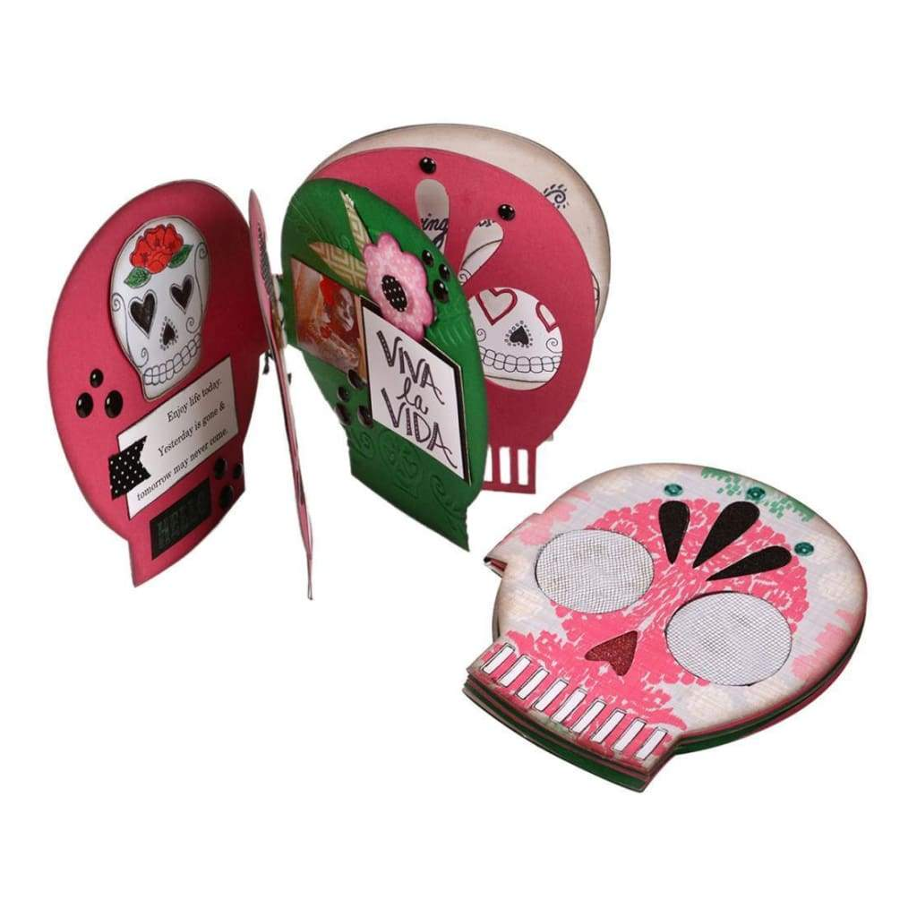 Sizzix Bigz Xl Die 6 Inch X13.75 Inch Day Of The Dead Sugar Skull Book