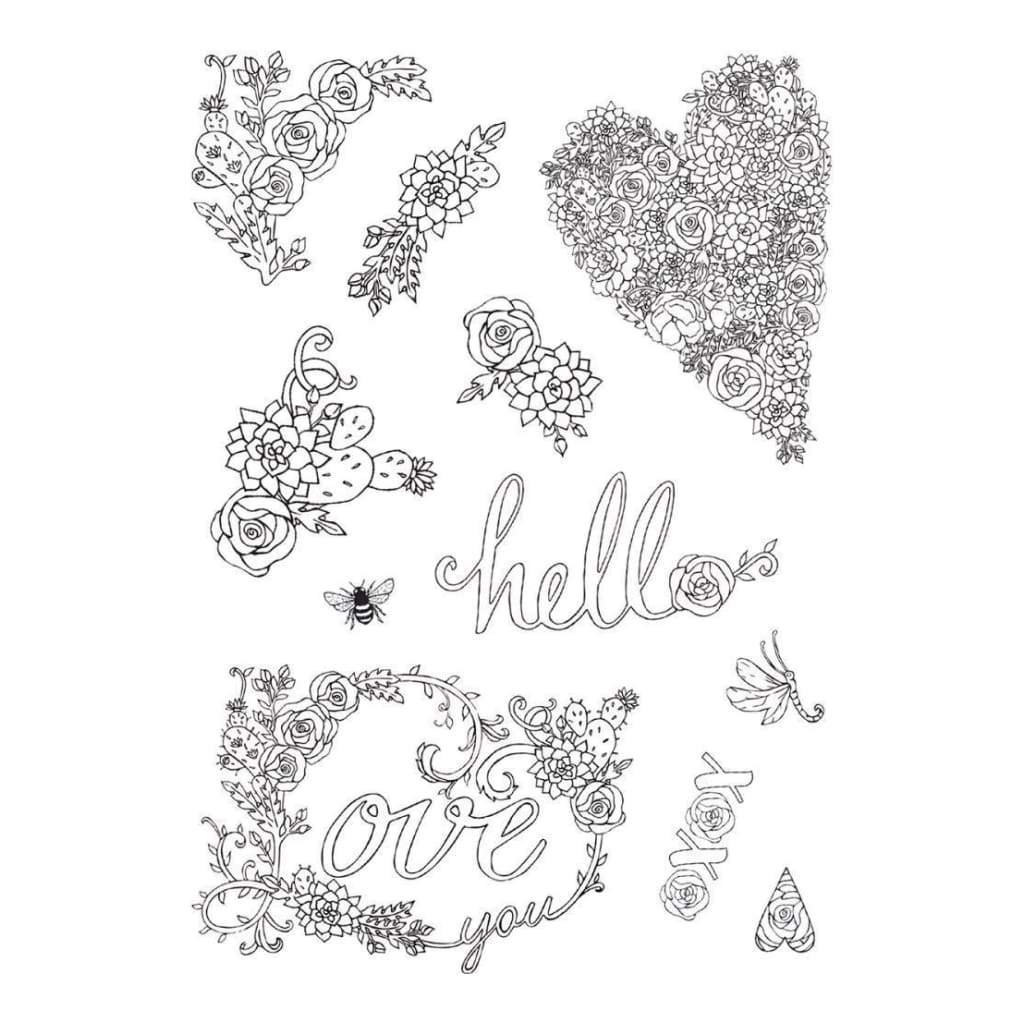 Sizzix Colouring Stickers By Jen Long In Bloom