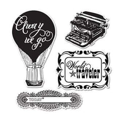 Sizzix Echo Park Stamp And Die Framelit - Everyday Eclectic  -  Contains - 4 Sta