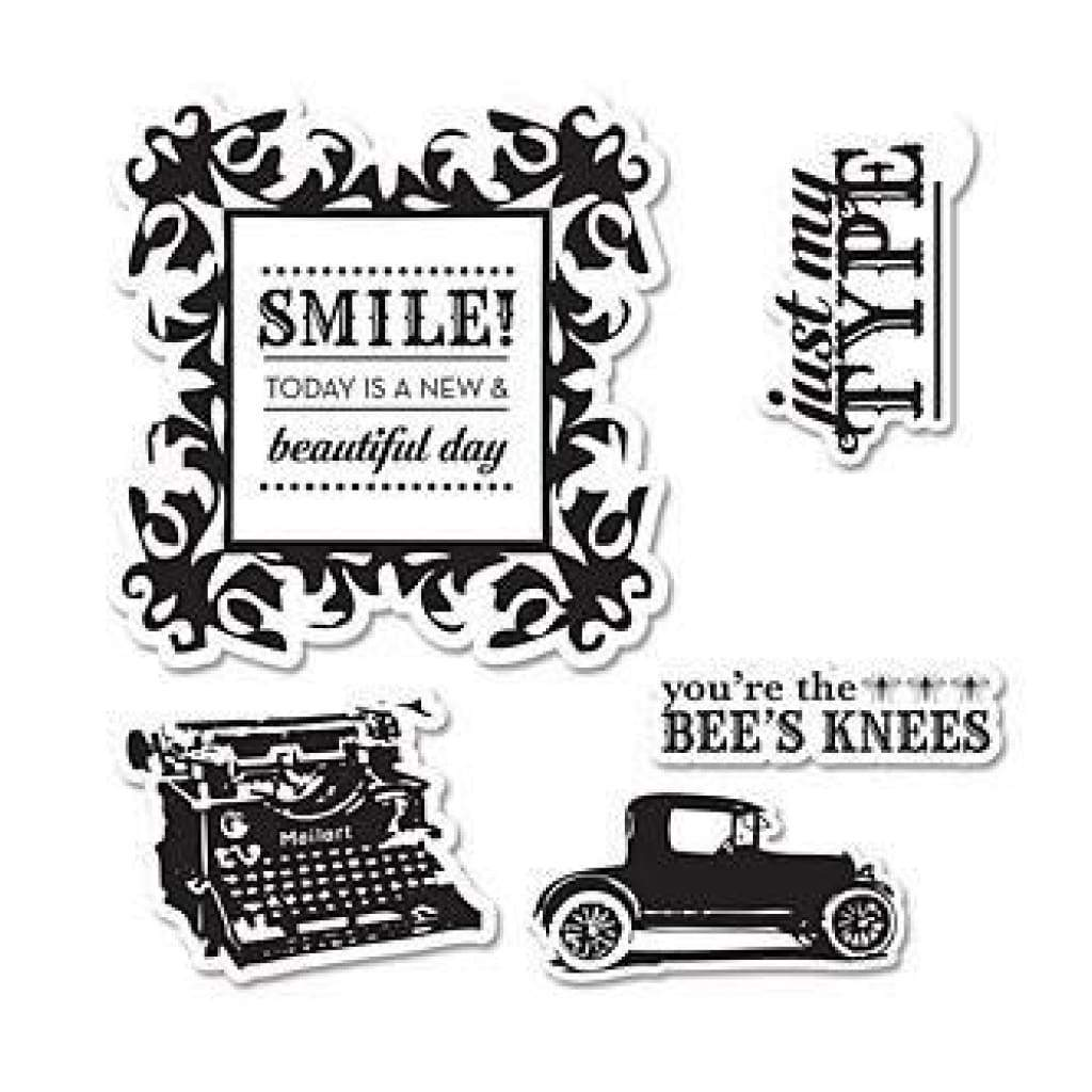 Sizzix Echo Park Stamp And Die Framelit - Times & Seasons -  Contains - 5 Stamps