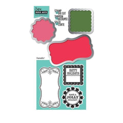 Sizzix Framelits Dies 3/Pkg W/Cling Stamps Tags