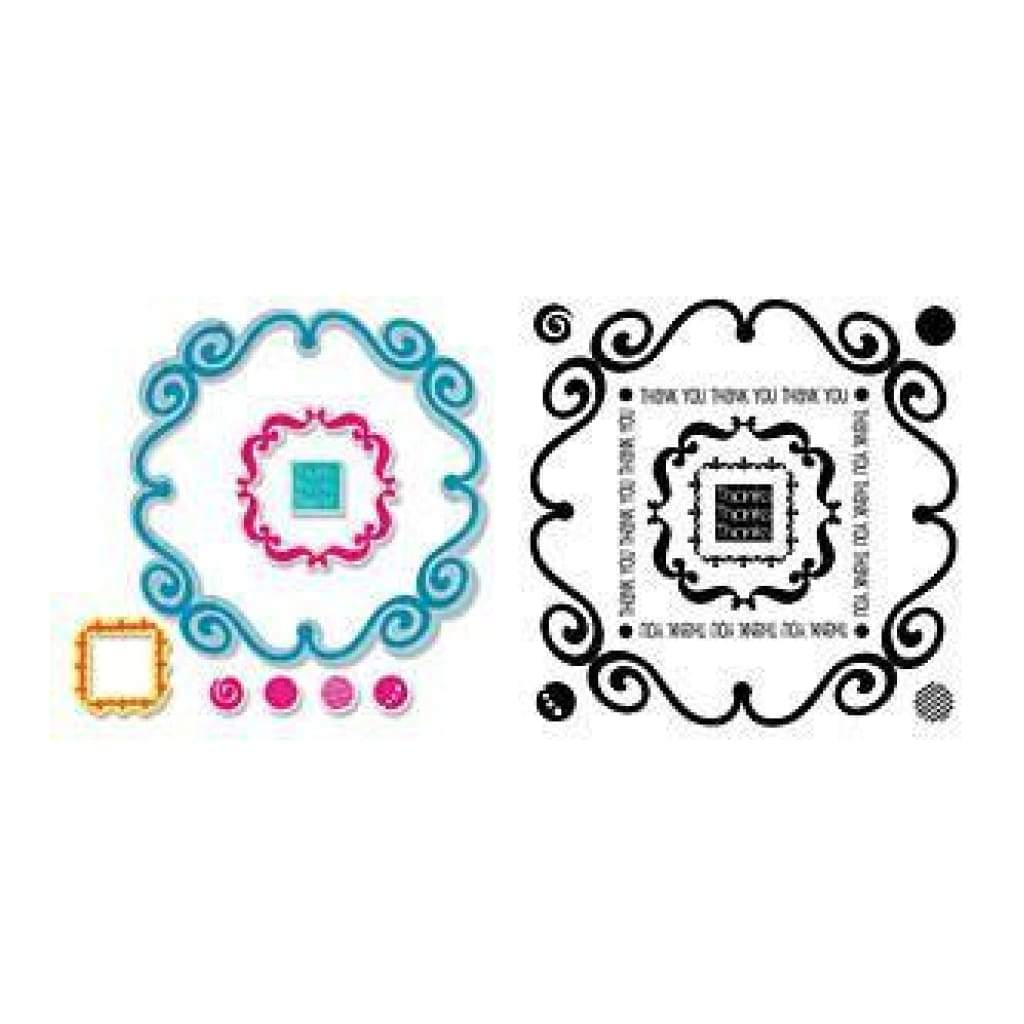 Sizzix Framelits Dies 9 Pack With Stamps Circles & Tags