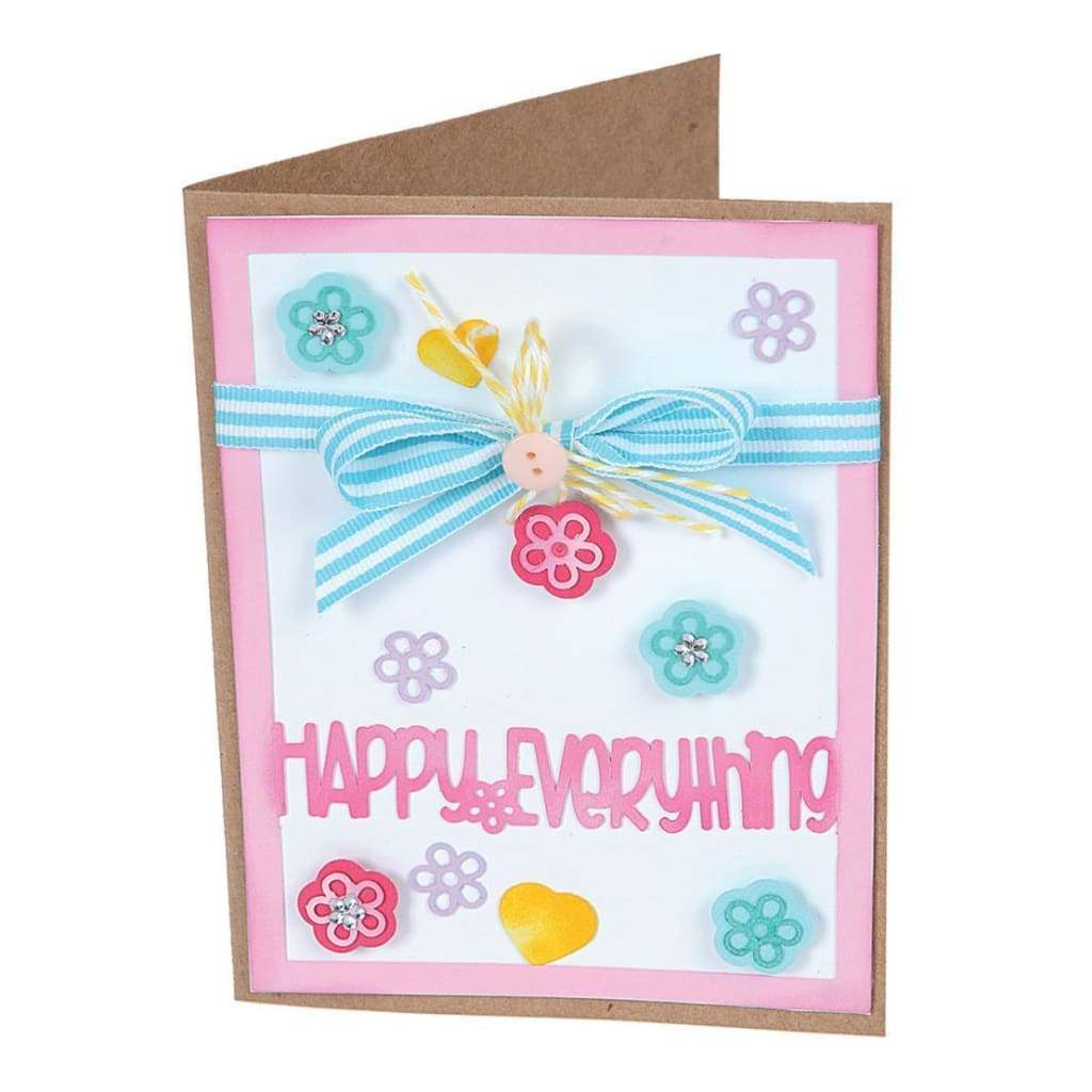 Sizzix Framelits Dies By Stephanie Barnard 13 Pack Card Front With Block Words Drop-Ins