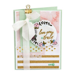 Sizzix Framelits Dies with Stamps By Lindsey Serata Love You Truly