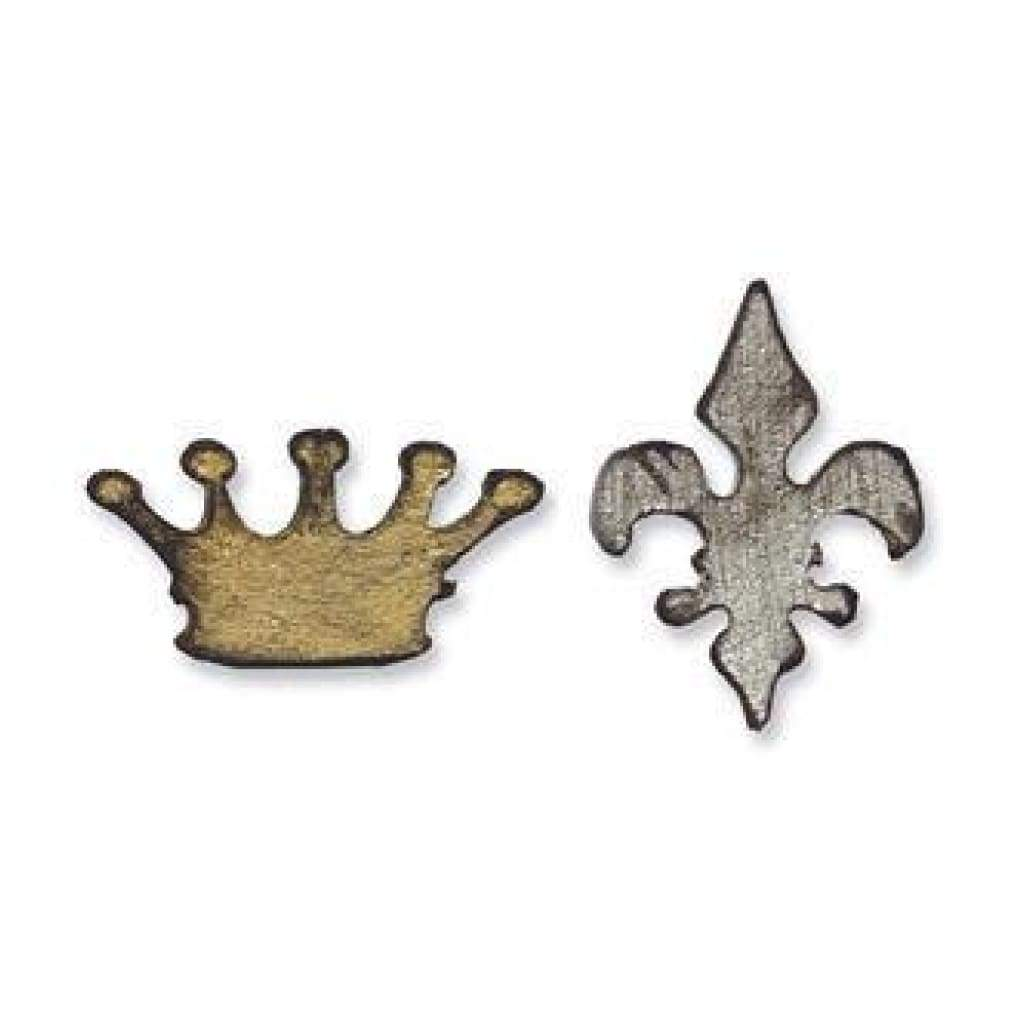 Sizzix Movers & Shapers Die - Tim Holtz - Mini Crown & Fleur Set