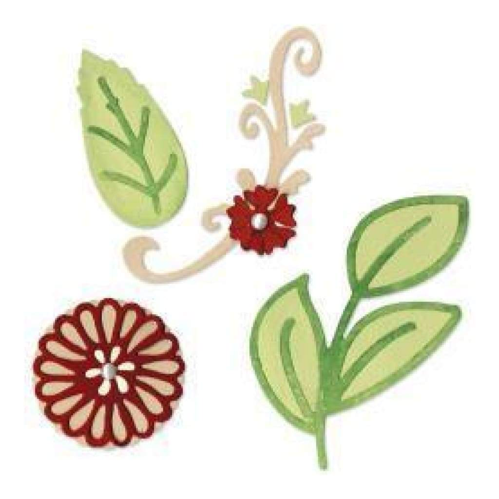 Sizzix - Sizzlits Decorative Sets - Floral Botanical Set By Scrappy Cat