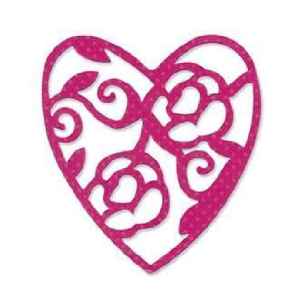 Sizzix - Sizzlits Single Die - Lace Heart By Scrappy Cow