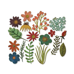 Sizzix Thinlits Die Set by Tim Holtz 17 pack - Funky Floral #1