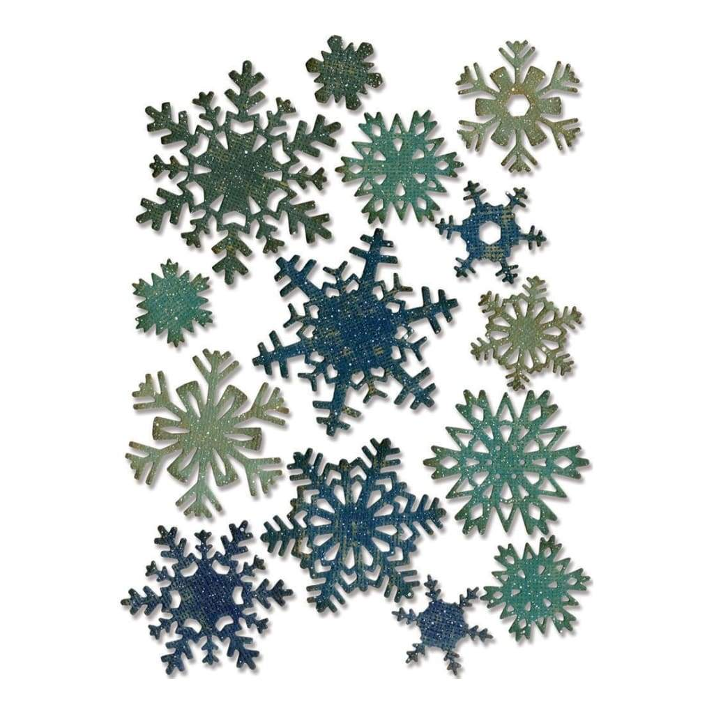 Sizzix Thinlits Dies 14 pack By Tim Holtz Mini Paper Snowflakes