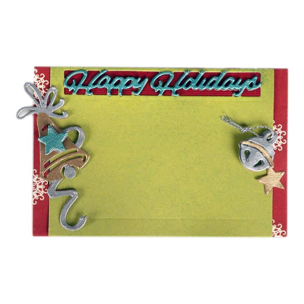Sizzix Thinlits Dies 5 pack Lindsey Serata Gift Card Holder Happy Holidays