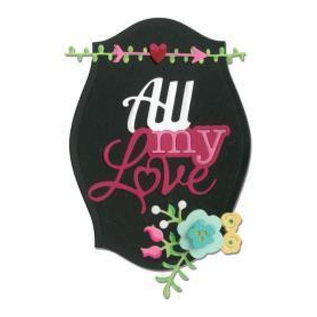 Sizzix Thinlits Dies 8 Pack All My Love