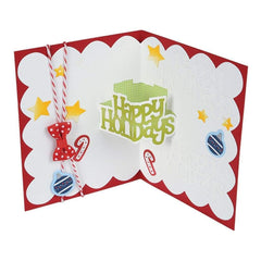 Sizzix Thinlits Dies By Stephanie Barnard 10 pack  Happy Holidays 3-D Drop-Ins Sentiment