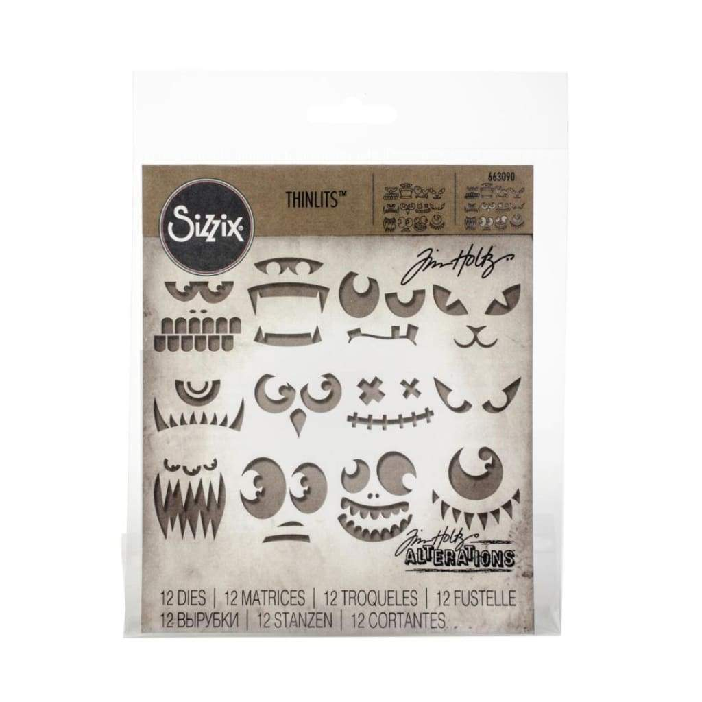 Sizzix - Thinlits Dies By Tim Holtz - Frightening Faces