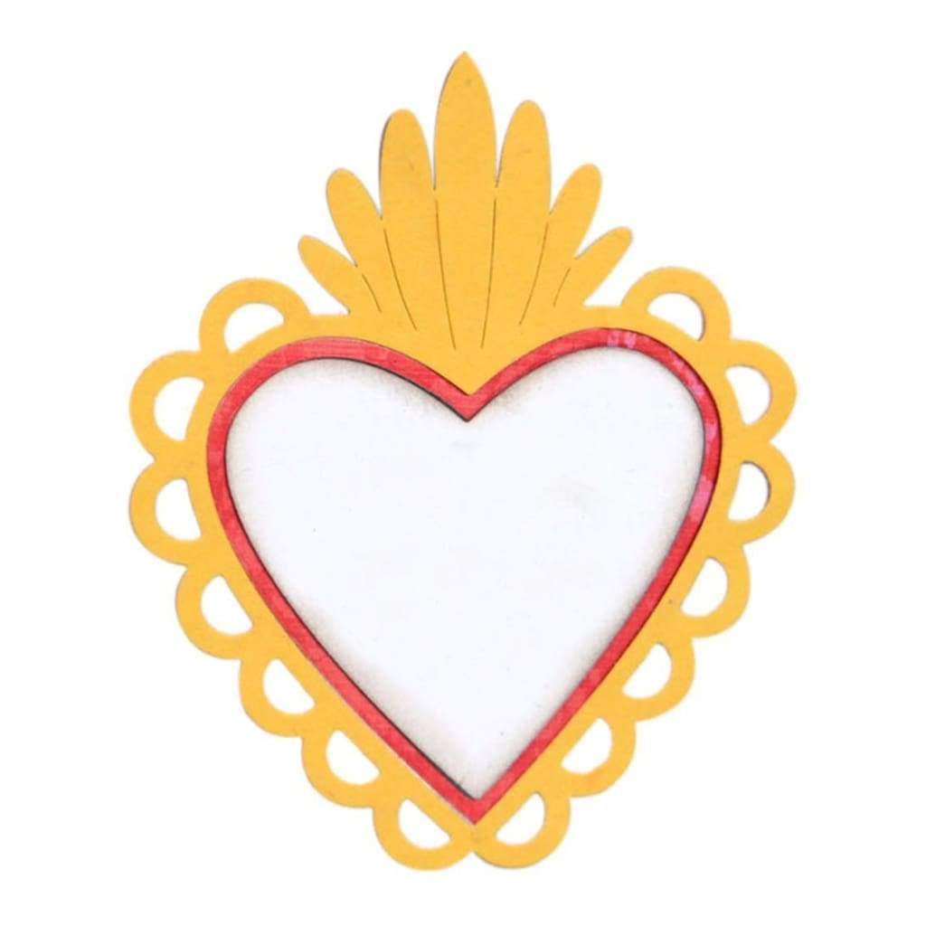 Sizzix Thinlits Dies Sacred Heart W/Flowers