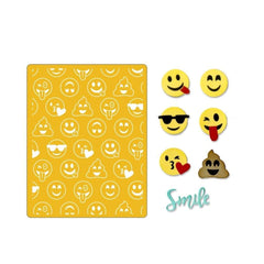 Sizzix Thinlits with Textured Impressions By Lindsey Serata Smile Emojis - 10 pack