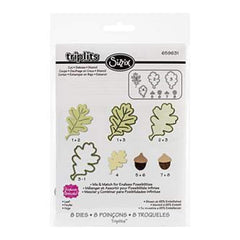 Sizzix Triplits Dies By Stephanie Barnard Leaf - 8 Pack