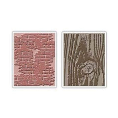 Sizzix/Tim Holtz - Texture Fades - Bricked & Woodgrain 2Pc Set