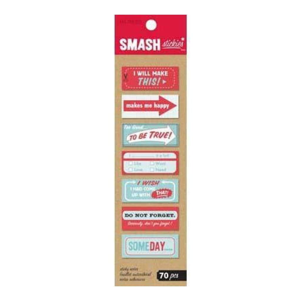 Smash Stickies - Red & Blue 70 Pieces